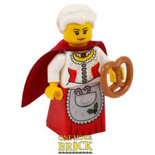 Mrs Santa LEGO Minifigure - Festive Mrs Christmas - woman with pretzel NEW