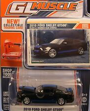 GREENLIGHT COLLECTIBLES 1:64 SCALE DIECAST METAL BLACK 2010 SHELBY GT500