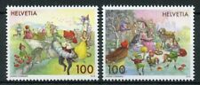 Switzerland 2018 MNH Fairy Tales Rapunzel Puss in Boots Frog King 2v Set Stamps