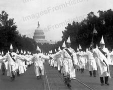 8x10 Print KKK Ku Klux Klan March on Washington DC 1930's #KK100
