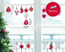 Fenstersticker Weihnachten 18-teilig - Weihnachtsmann Filz Nikolaus Kugeln Deko