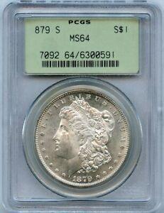 1879-S S$1 Morgan Silver Dollar PCGS MS 64
