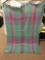 "W. Bill Ltd Bond Street London Blanket Vintage 46.5""Wx67""L VINTAGE MOHAIR"