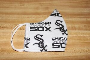 MLB CHICAGO WHITE SOX  FACE MASK  HANDMADE IN USA WASHABLE