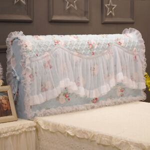 Elegant floral bed headboard cover decorative Ruffle lace cotton headboard cover