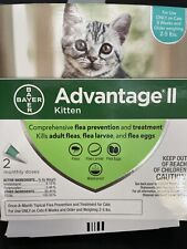 New listing Bayer Advantage Ii Kitten 2-5 lbs Flea Prevention & Treatment 2 Pack