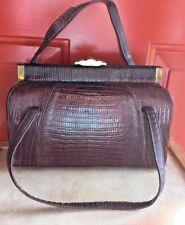 Antique Alligator Purse Handbag Hand Crafted ~ Circa 1940s or earlier