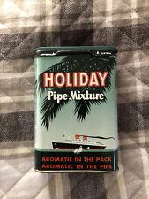 Vintage Holiday Pipe Mixture Tobacco Pocket Tin