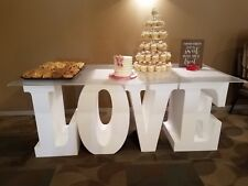 "Giant Styrofoam Letters (30""x 16"") ""LOVE"" Wedding Table Base Letters"