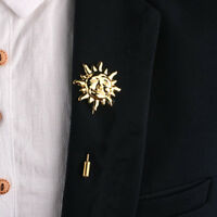 Chic Sun Face Suit Shirt Corsage Lapel Stick Pin Tie Brooch Mens Jewelry