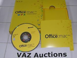 MS Microsoft Office MAC 2011 Home and Student Family Pack For 3PCs =NEW Retail=