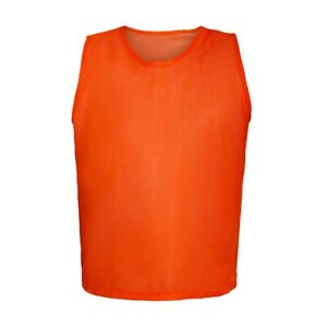 12 ORANGE SCRIMMAGE VESTS SOCCER, FOOTBALL BASKETBALL CHILD YOUTH ADULT PINNIES