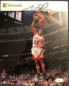 Scottie Pippen Chicago Bulls 8x10 Microsoft Giveaway Picture Signed COA JSA