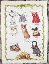 Tasha Tudor Miss Meggie Welsh Corgi Dog Paper Doll ~ New, Uncut 1990s Jenny Wren