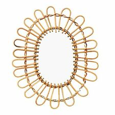 Hanging Wall Oval Mirror Home Decorative Rattan Nordic Wicker Decoration Mirrors