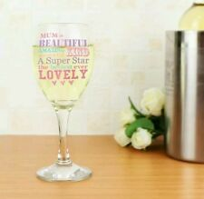 Personalised She Is Wine Glass For Mum Mummy Nan Nanny Christmas Birthday