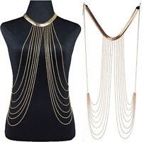 Bikini Crossover Schulterkette Körperkette Körperschmuck Halskette Kette Chain