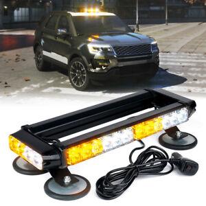 Xprite Yellow/White 32 LED Strobe Light Bar Trucks SUV 4x4 Rooftop Flash Warning