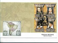 PERU FDC, 2008 VICEROYS OF PERU, FIRST DAY COVER WITH BLOCK OF FOUR SCOTT 1622