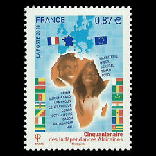 France 2010 - Anniv of the African Independencies Self-Adhesive - Sc 3884 MNH