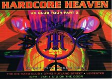 HARDCORE HEAVEN Rave Flyer Flyers 27/3/98 A5 The Die Hard Club Leicester