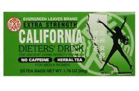 CALIFORNIA DIETERS DRINK EXTRA STRENGTH TEA DIETERS DRINK 20 TEA BAGS
