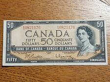 ➡➡ 1954 BC-42b REPLACEMENT Portrait $50 Note Bank of Canada $50 SN B/H0821176