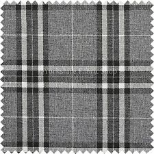 Designer Tartan Check Pattern Grey Chenille Upholstery Discounted Quality Fabric