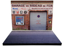 Diorama présentoir Garage du Rideau de Fer - 1/43ème - #43-2-A-A-061