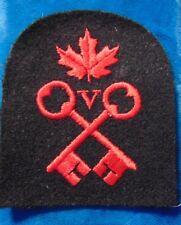 "CANADA RCN Royal Canadian Navy Victualling Storesman VS 3"" trade patch badge"