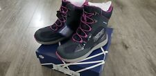NEW in box Geox Girl Snow Boots Size 22cm Youth 2 Eur 33 Grey Pink