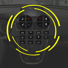 1Set AC Button Repair Kit Dash Replacement For 07-13 GM Vehicles Decal Stickers