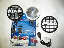 PIAA 510 Xtra 35w=60w Star White Driving Light Kit + Stone Guards Harness Switch