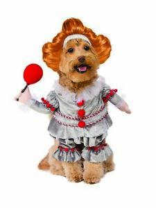 Rubie's Walking Pennywise It Pet Costume Killer Clown Dog Cat Licensed SM-XL