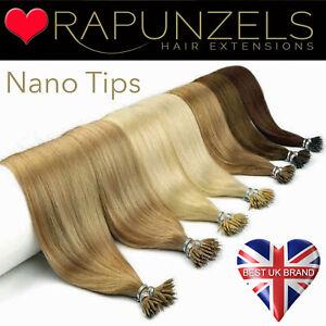 "Rapunzels UK Nano tip Nano ring bead salon professional human remy hair 20"" inch"