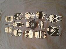 Men's Famous Movie Helmets Scify Vader Robocop Ironman Bobba Tron T Shirt (L)