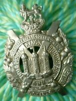 VICTORIAN Kings Own Scottish Borderers Badge RARE CURVED Issue SUPER Antique