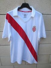 Maillot A.S MONACO rétro vintage coton shirt maglia football collection XL rare