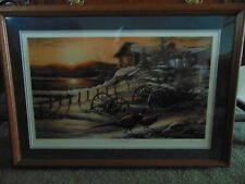 "TERRY REDLIN's ""PEACEFUL EVENING"" STRICT LIMITED EDITION! #708/960 REGISTERED"