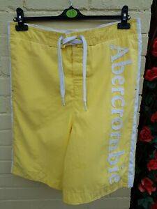 Abercrombie & Fitch Swimming Beach Board Shorts Large Lemon Yellow