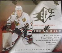 2017/18 Upper Deck SPx Hockey Hobby Box Factory Sealed Free Priority Shipping