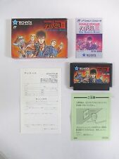 DOUBLE DRAGON 3 -- Boxed. Famicom, NES. Japan game. Work fully. 10852