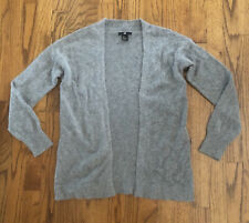 H&M Gray Angora Open Front Cardigan Sweater Jacket Women's Sz. Us Xs Eur Xs