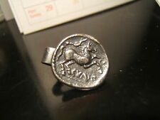 "GREEK - ROMAN COIN ""HORSE -GOD""  Tie Clasp  16 mm wide  Beautiful Item"