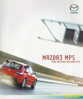 Mazda 3 MPS 2.3 UK Market Brochure 2007 Includes Aero Sports Kit Model 24 Pages