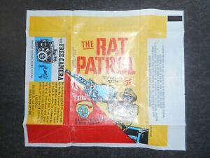 1966 RAT PATROL CARD WRAPPER TOPPS  (VERY CLEAN)