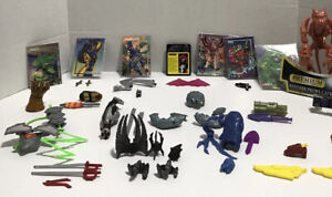 Marvel DC Spider-Man Batman etc. weapons , accessories, cards GREAT CONDITION