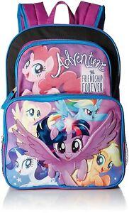 "My Little Pony Girls 16"" Backpack, Black/ Purple"