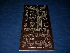 SALTON HOTRAYS-HOTABLE AND HOTRAY-1950s ERA CATALOG & RECIPES BOOKLET