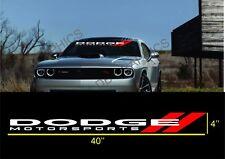 DODGE MOTORSPORTS CHARGER WINDSHIELD vinyl decal sticker(new design)